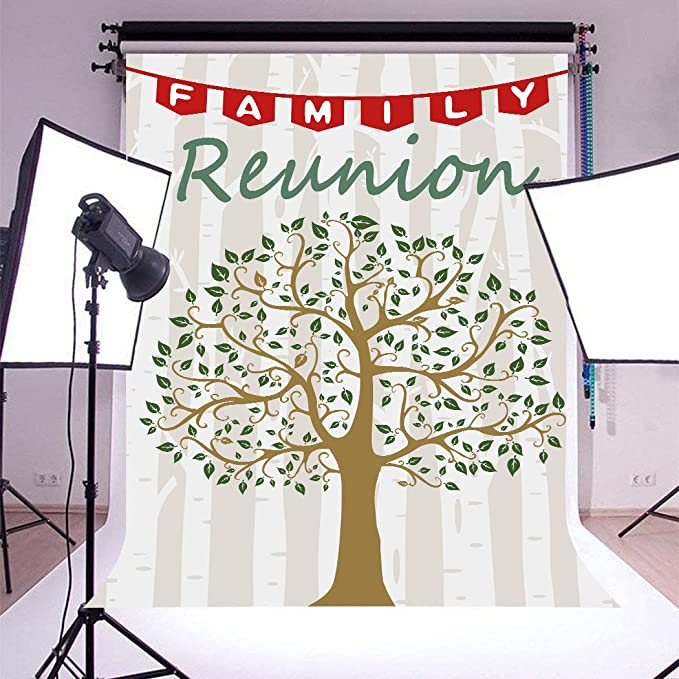 10x8ft Green Family Trees Background Photography Backdrop Props for Family Reunion Party Photo Video Decor LHFU661
