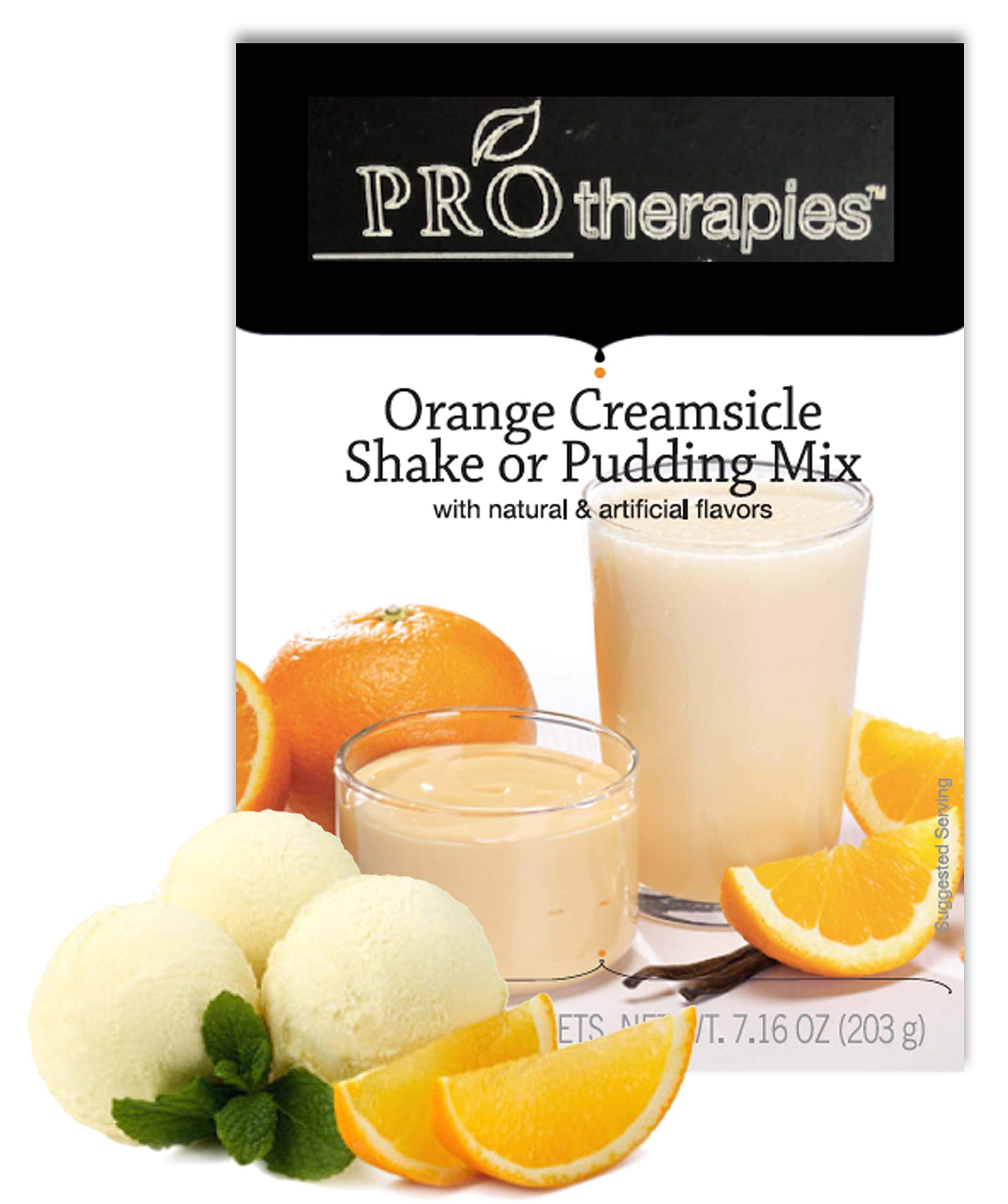 High Protein Pudding Mix - Orange Creamsicle Low-Carb Instant Diet Pudding Mix, Low Calorie Weight Loss Shake/Pudding, 7 Count