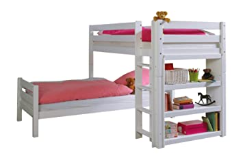 Etagenbett L Form : Erst holz etagenbett l form buche weiß stockbett mit