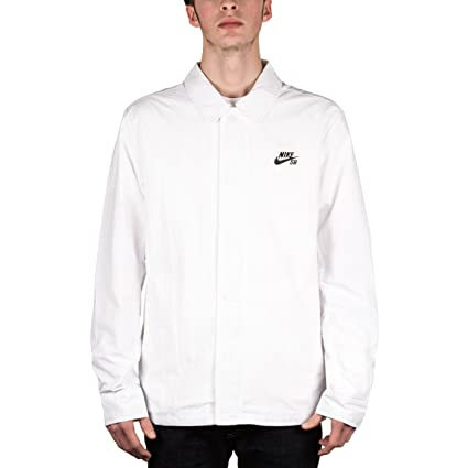 8813a0ef9c Amazon.com  Nike Sb Coaches Jacket - White Black Large (US) M  Sports    Outdoors