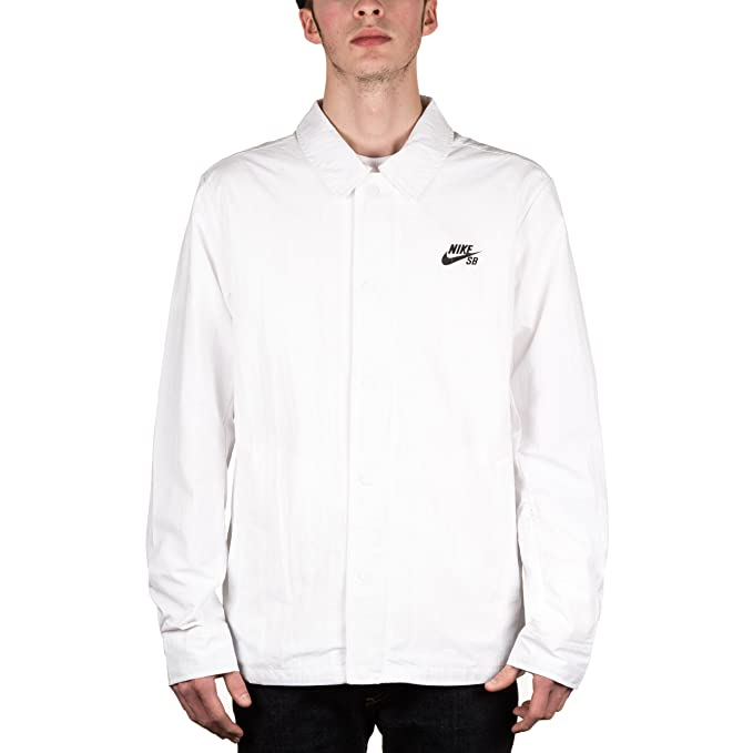 Amazon.com: Nike Sb Coaches Jacket - White/Black Large (US ...