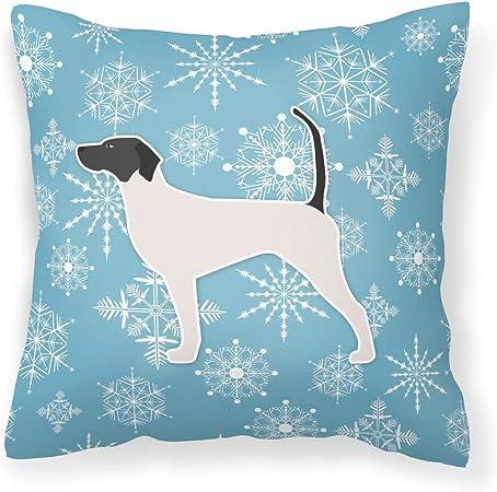 Amazon Com Caroline S Treasures Bb3495pw1414 Winter Snowflake English Pointer Fabric Decorative Pillow 14hx14w Multicolor Garden Outdoor