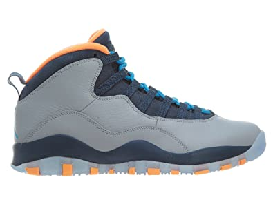 brand new 72b4b 20edd Nike Mens Air Jordan Retro 10 quot Bobcat Wolf Grey Dark Powder Blue  Leather Basketball