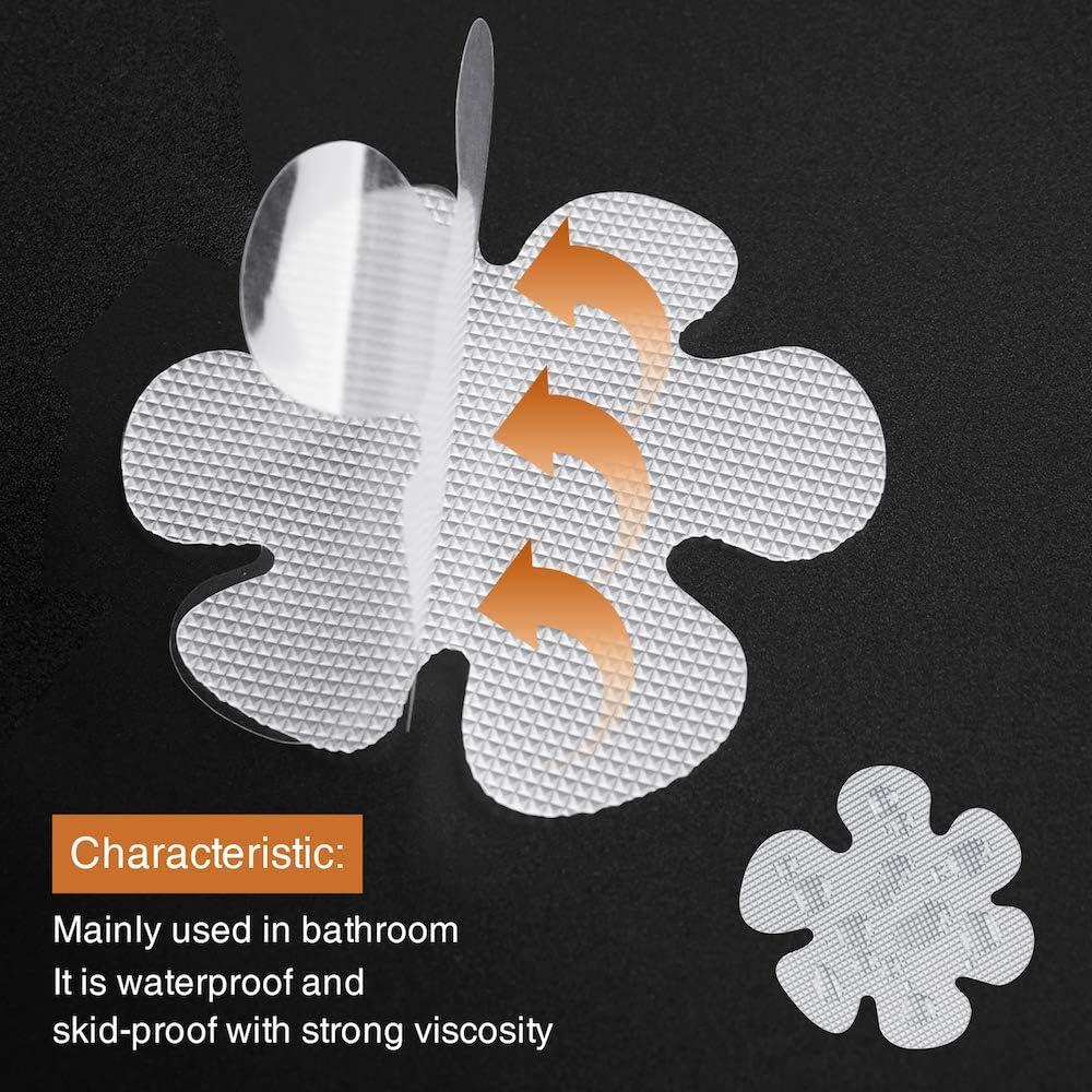 Bathtub Stickers Non-Slip Safety Shower Treads Adhesive Appliques with Premium Scrape Gray