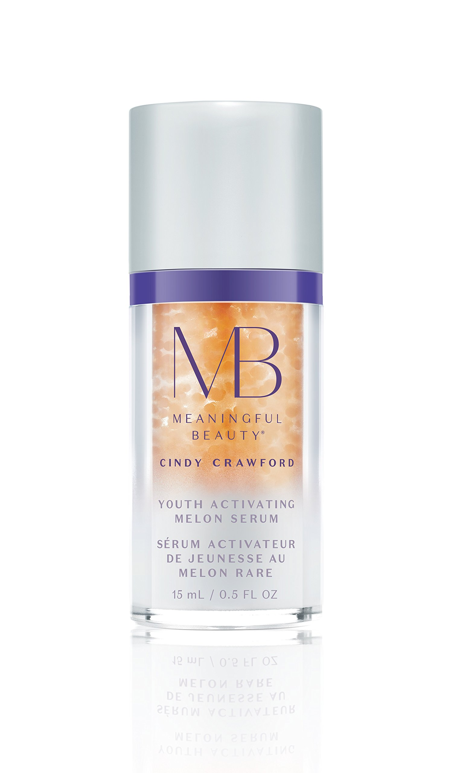 Meaningful Beauty Beyond - Youth Activating Melon Serum - Peptide Infused Melon Leaf Stem Cell Facial Treatment - Travel Size 30 Day Supply/0.5 Ounce - MT.2113