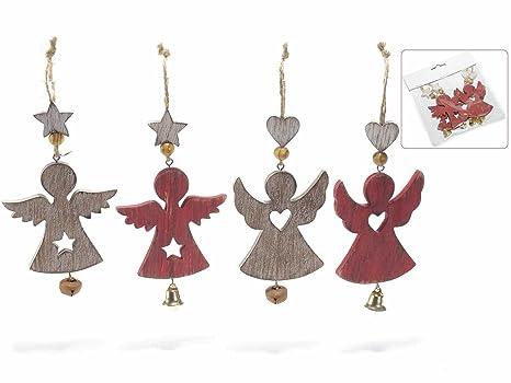 Alberi Di Natale In Legno Da Appendere : Angioletti natalizi in legno da appendere decorazione per albero
