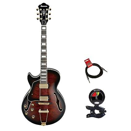 Ibanez Artcore estilo expresionista AG95 zurdos guitarra de cuerpo hueco de 6 cuerdas Guitarra eléctrica Kit ...