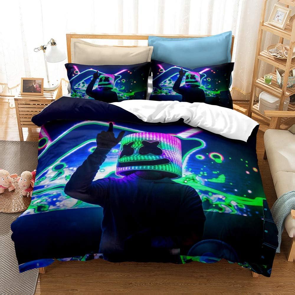 Yicool 3 Piece Full Size Bedding Sheet Set Music DJ Polyester ...