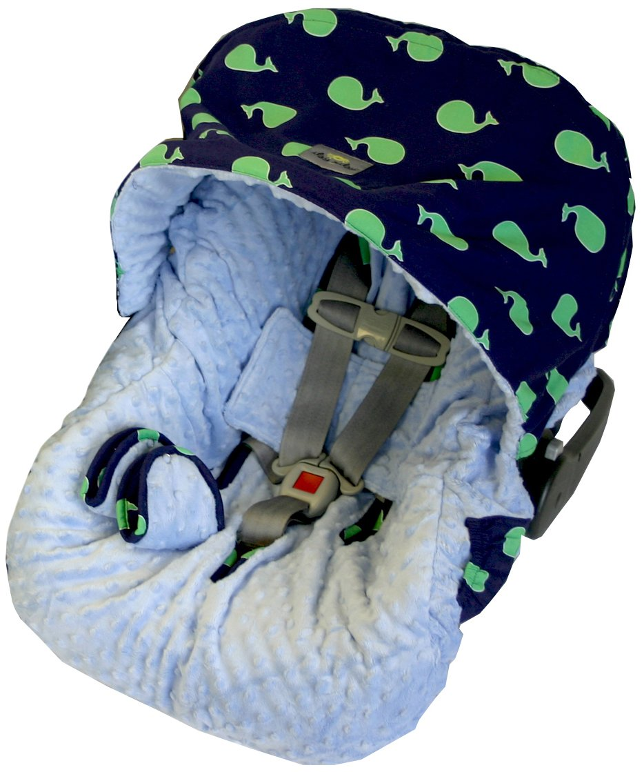 Amazon Itzy Ritzy Infant Car Seat Cover Whale Watching Blue Discontinued By Manufacturer Baby