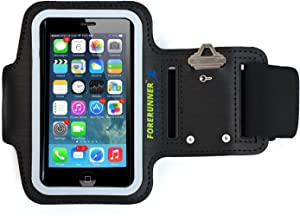 Forerunner Sportband+ iPhone 5 Armband for Running with Two Additional Ports for Earphone-Free Listening Works with iPod Touch 5 for 8-14 inch arms