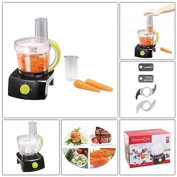 Robot de cocina para rallar con depósito (Rallador de cocina, verduras rallador de 1 L, picadora, 350 W, batidora, Negro): Amazon.es: Hogar