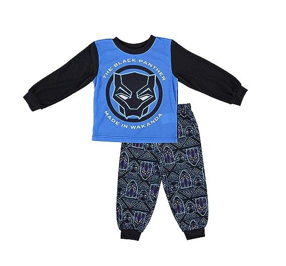 536163893c Marvel Boys Black Panther Pajamas - 2-Piece Long Sleeve Pajama Set (Purple/