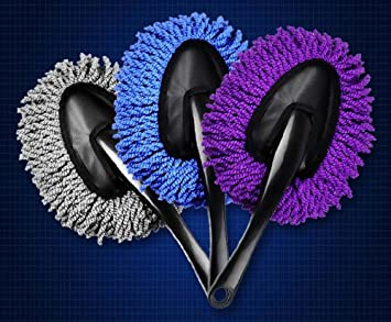 Mayco Bell 3Pcs Mini Car Brush Detail Duster Extendable for Interior and Exterior Telescope Handle JS Lifestyle Automotive Detailing Tools Gray
