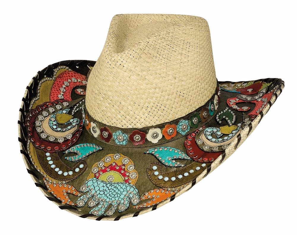 Montecarlo Bullhide Hats GYPSY QUEEN Panama Straw Western Cowboy Hat (Large) by Montecarlo / Bullhide Hats