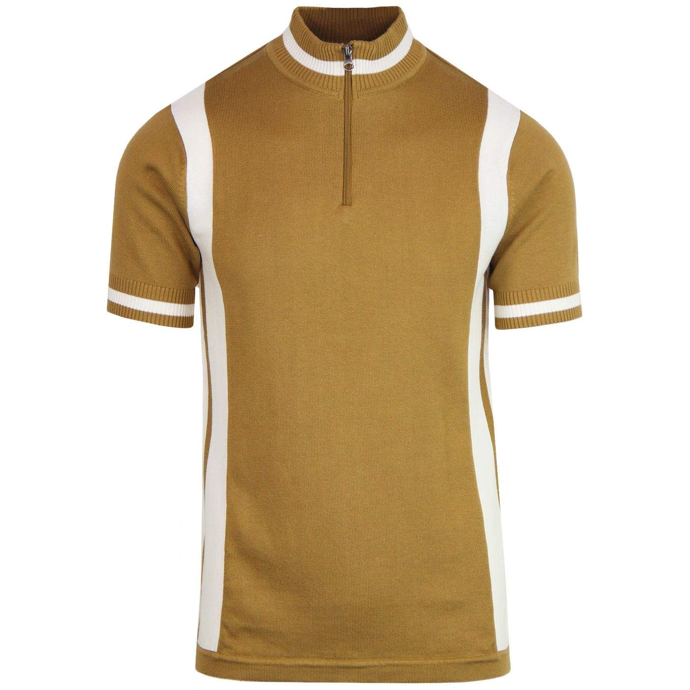 1960s – 70s Mens Shirts- Disco Shirts, Hippie Shirts Madcap England Vitesse Mens Retro 60s Knitted Cycling Top with Zip Funnel Neck £34.99 AT vintagedancer.com