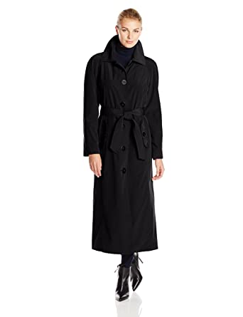 Amazon.com: London Fog Women's Long Single Breasted Trench Coat ...
