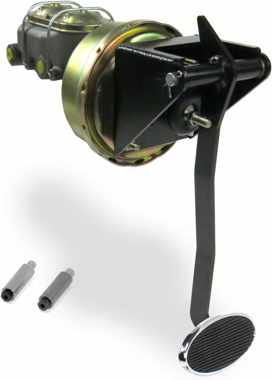 "Helix 321233 Universal FW 9/"" Single Brake Pedal kit Drum~Lg Oval Chr Pad"