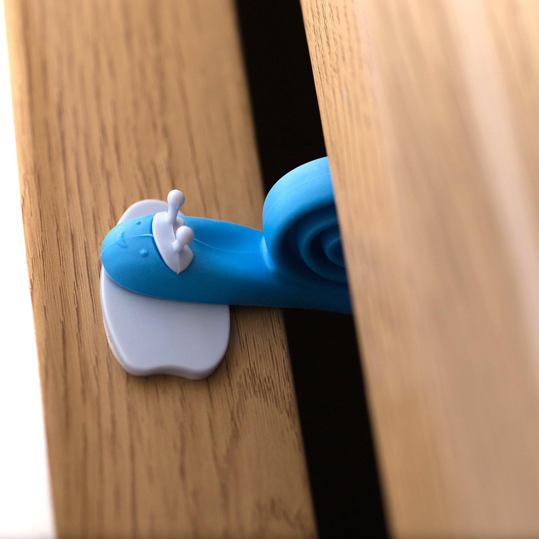 HBselect 9/pi/èces multicolore protecteur bebe portes crochets escargot Patron protecteur de portes pour enfants Protecteur doigt pour portes