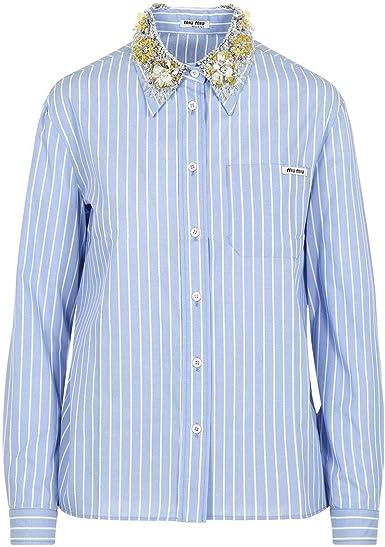 Miu Miu - Camisas - para mujer azul claro Tamaño de la marca ...