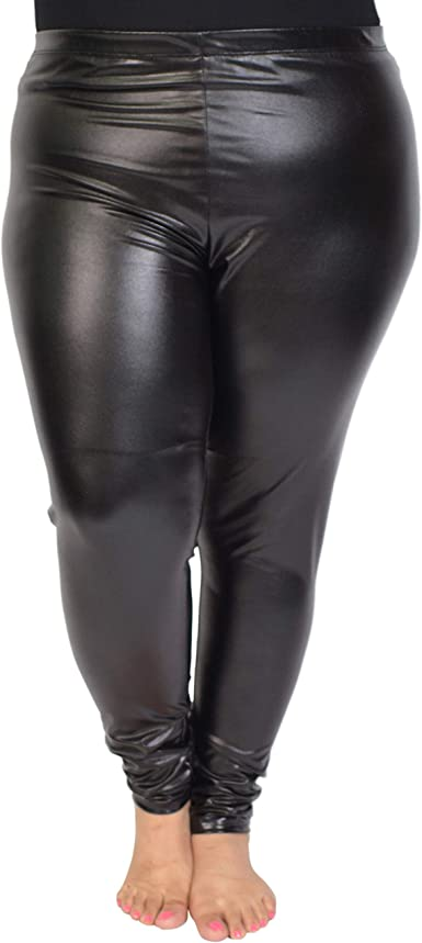 Womens//Ladies Light Gold Shiny Leggings
