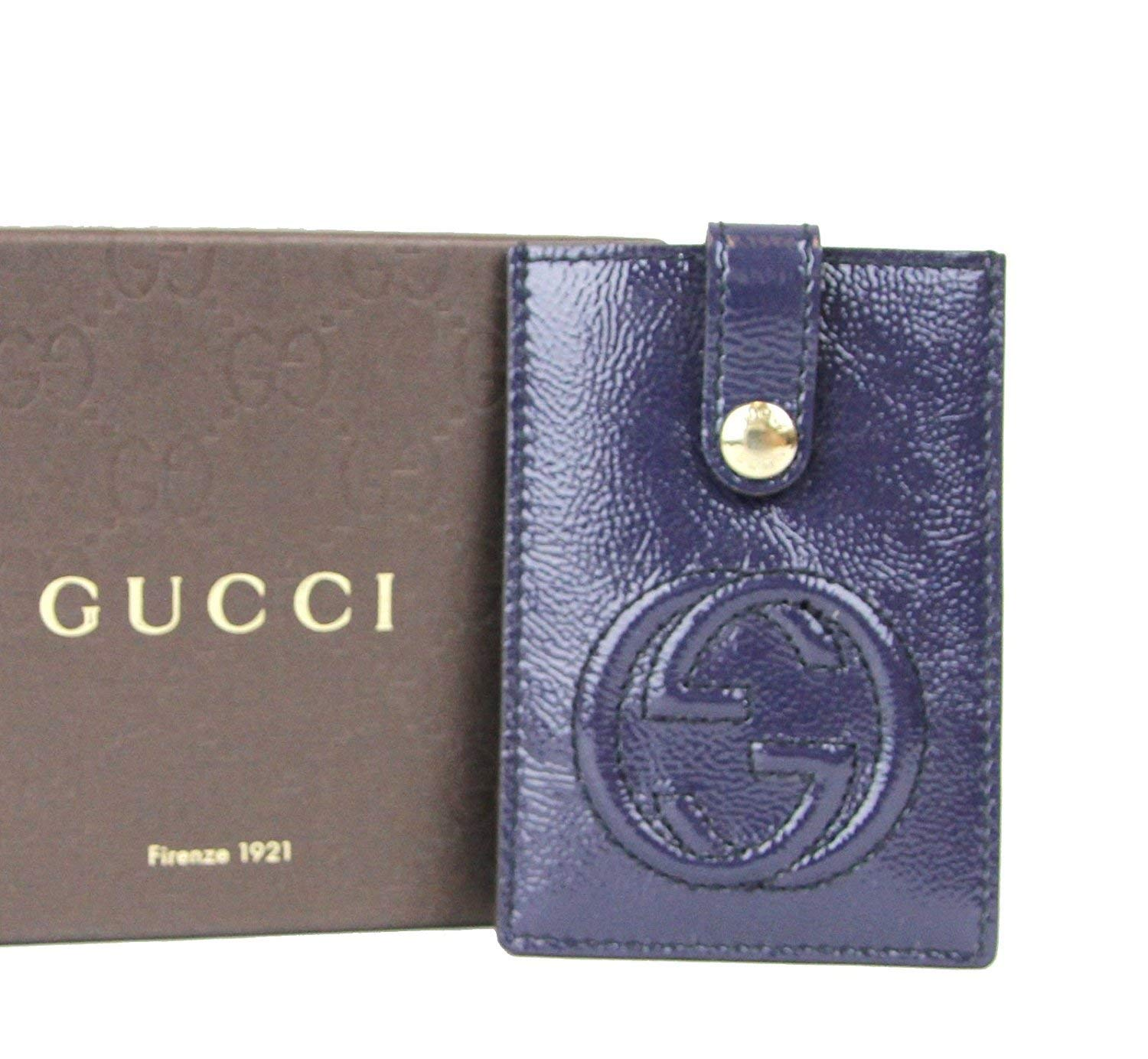 Gucci Women's Soho Blue Patent Leather Card Case Pouch 338331 4233 by Gucci (Image #5)