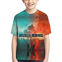 VIMMUCIR Godzilla Kids T Shirts Short Sleeve Tops Tee for Boys Girls