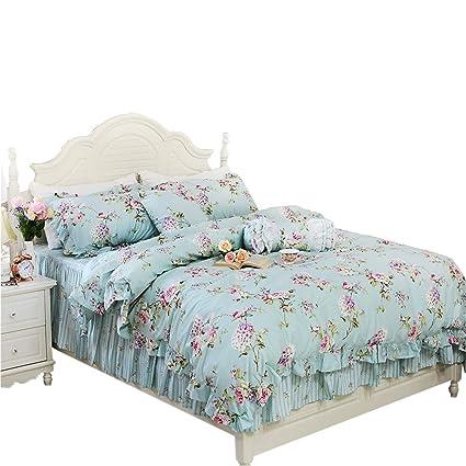 8f2ad472935 Seepong Juego de Cama de Estilo Victoriano con Estampado Floral ...