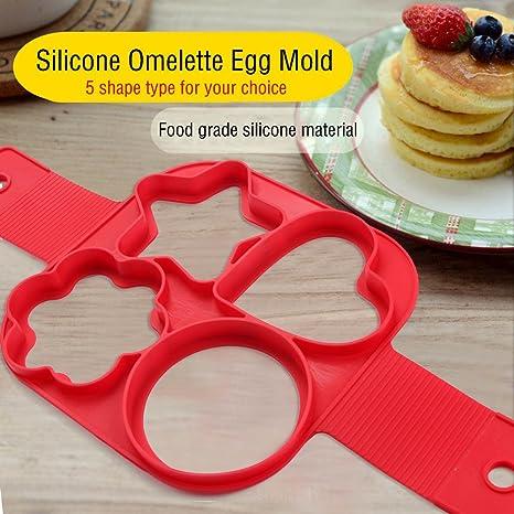Epilun - Molde antiadherente para hacer tortitas de silicona, anillo de huevo, molde para