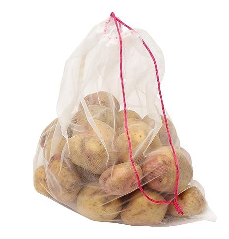 Dexam Bolsas reutilizables con cordón para frutas y verduras ...