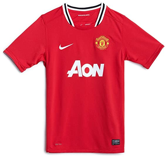 size 40 129c6 7e7e5 Amazon.com: Nike Manchester United 2011-12 Home Soccer ...