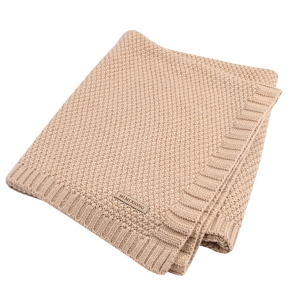 wsloftyGYd Baby Newborn Infants Summer Large Thick Knitting Wrap Sleeping Blanket Mat Cover Dark Brown