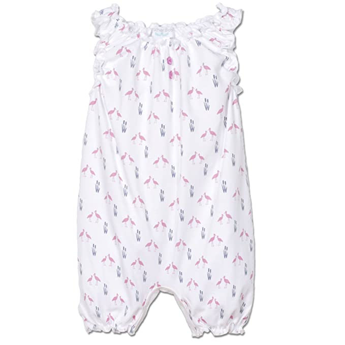 Plumas bebé niñas ropa Pima algodón sin mangas de una sola pieza sunsuit burbuja para bebé