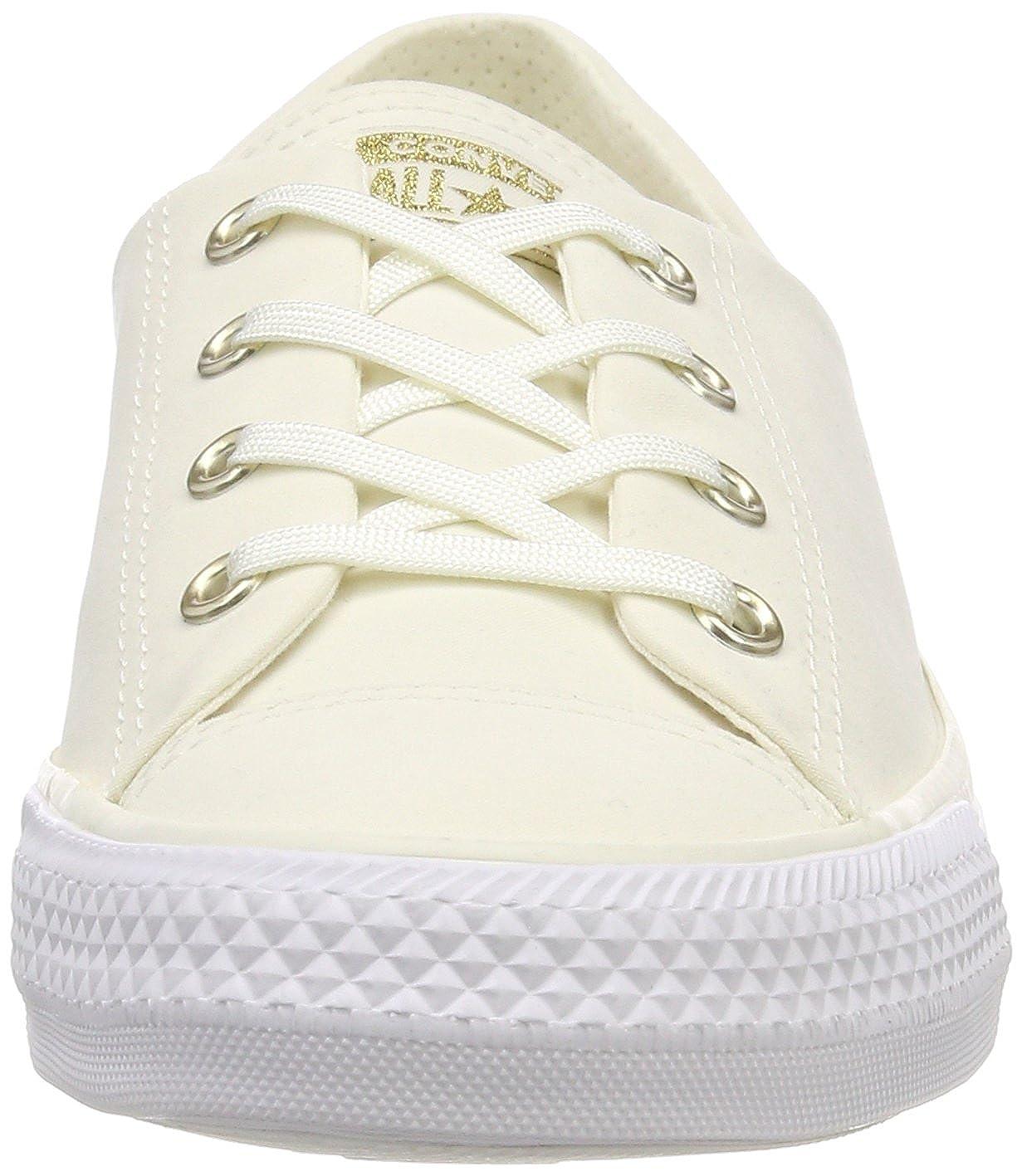 Converse Damen CTAS Beige Coral Ox Egret/Weiß Slip On Sneaker, Beige CTAS (Egret/Egret/Weiß 281) bdbf0b