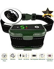 TBI Pro Dog Bark Collar - Effective K9 Professional Smart Barking Detection - Rechargeable with Triple Anti-False Modes: Beep, Vibration for Small, Medium, Large Dogs Breeds - IPx7 Waterproof