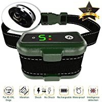 Dog Bark Collar - Effective K9 Professional Smart Barking Detection - Rechargeable with Triple…