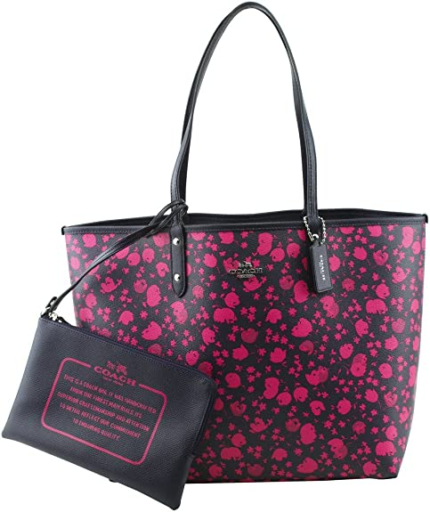 ce05ea7fc COACH Reversible City Tote in Prairie Calico Print Canvas: Amazon.ca ...
