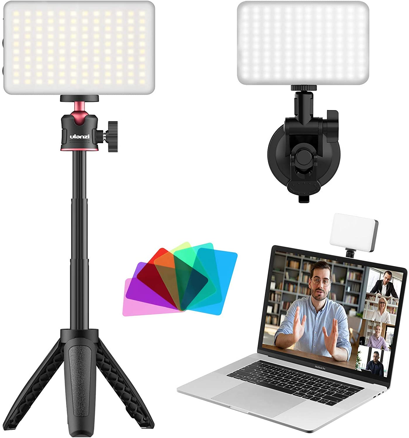 Video Conference Lighting Kit, LED Video Tripod Light for Laptop Computer Video Conferencing | Video Recording | Remote Working | Zoom Meeting | Self Broadcasting and Live Streaming