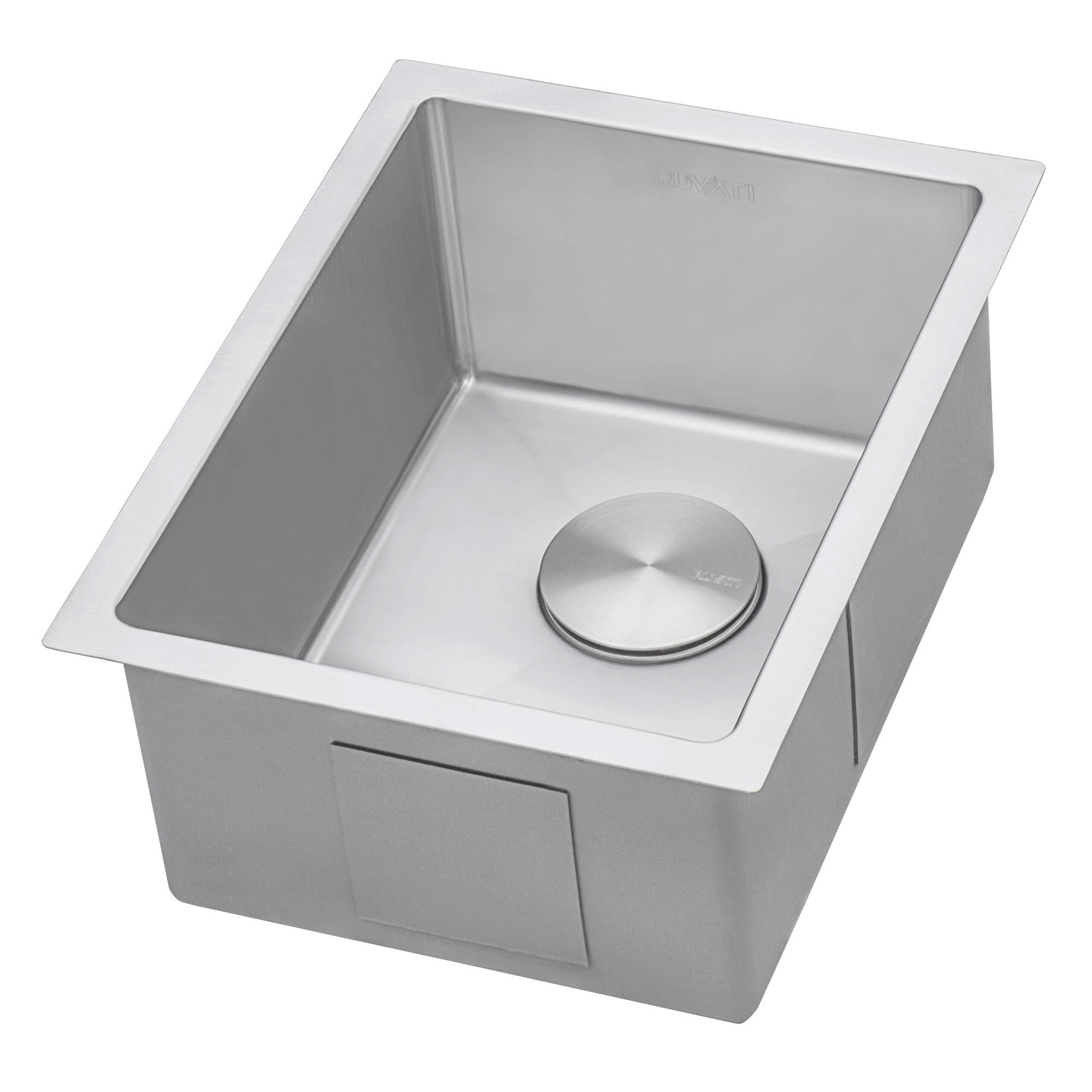 Ruvati 14-inch Undermount Wet Bar Prep Sink Tight Radius 16 Gauge Stainless Steel Single Bowl - RVH7114 by Ruvati (Image #4)
