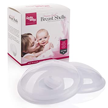 Soft and Flexible Protect Sore Save Leaking Breast Milk Nipple Shields Portable Breast Milk Collection Shells Cracked and Sensitive Nipples from Breastfeeding Breast Milk Savers for Nursing Moms Reusable 2 pk