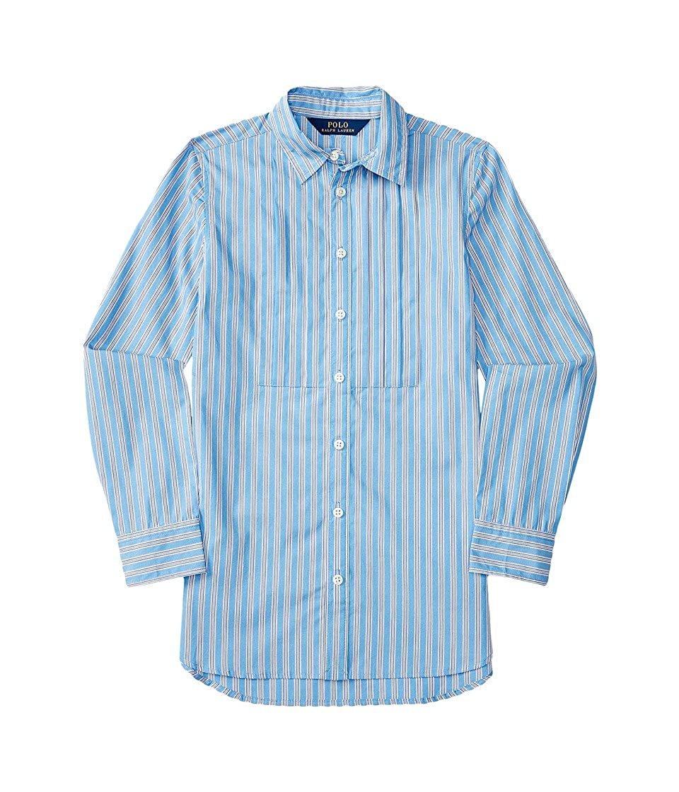 9391ca8c4 Amazon.com  Ralph Lauren Girls Striped Long-Sleeve Shirt (7 Big Kids ...