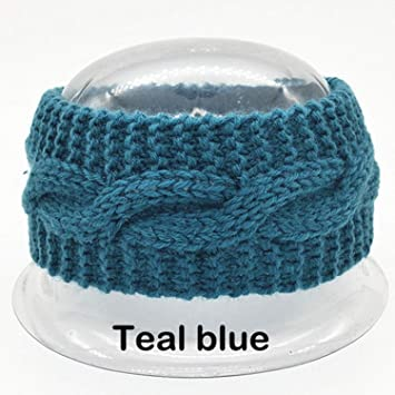 96db466ac51 Women s Wool Crochet Turban Headband Winter Warm Elastic Hairband Head Wrap  Bandage Headbands Headwear Girls Hair