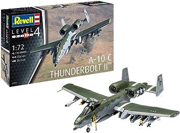 unlackiert Revell 03857 A-10 A//C Thunderbolt II originalgetreuer Modellbausatz f/ür Fortgeschrittene