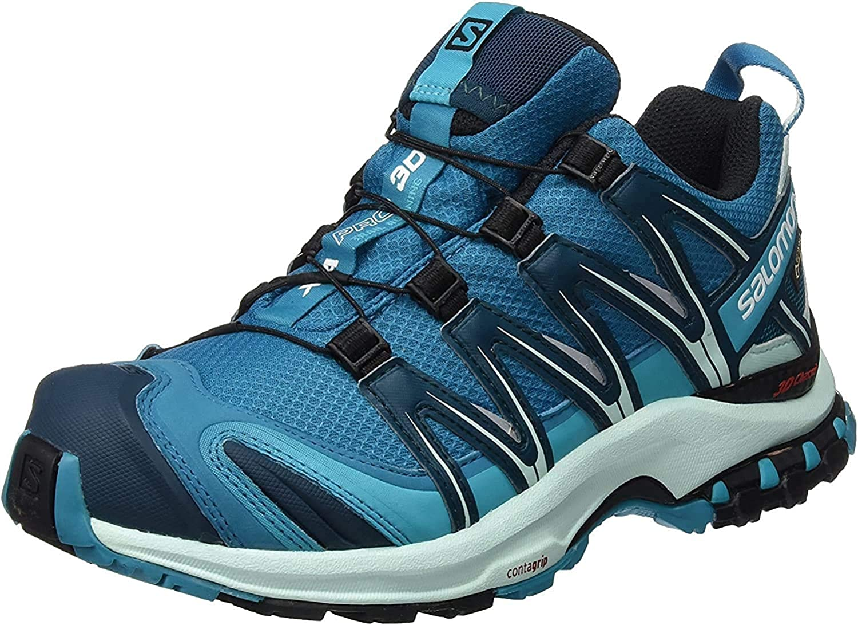 Salomon XA Pro 3D GTX, Calzado de Trail Running para Mujer, Azul ...