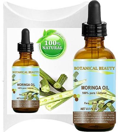 Botanical Beauty Moringa Oil for Face, Body, Hair, 0 5 fl  oz