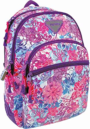 Mochila Reforzada Privata Floralise multicolor: Amazon.es: Equipaje