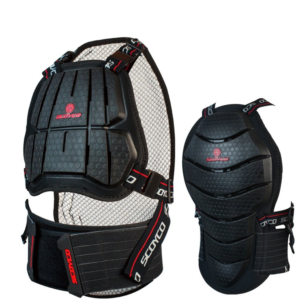 Scoyco AM04 Motorcycle Racing Body Armor Chest Back Protector Motocross Off-road Gear (M)
