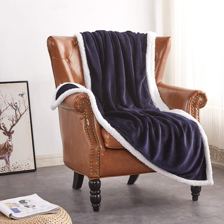 Rose Home Fashion Throw Blanket, Fleece Blanket, Fuzzy Blanket, Sherpa Blanket, Soft Blanket, Sherpa Blanket, Throw Blanket for Bed, Gifts for Women, Sherpa Blanket(50