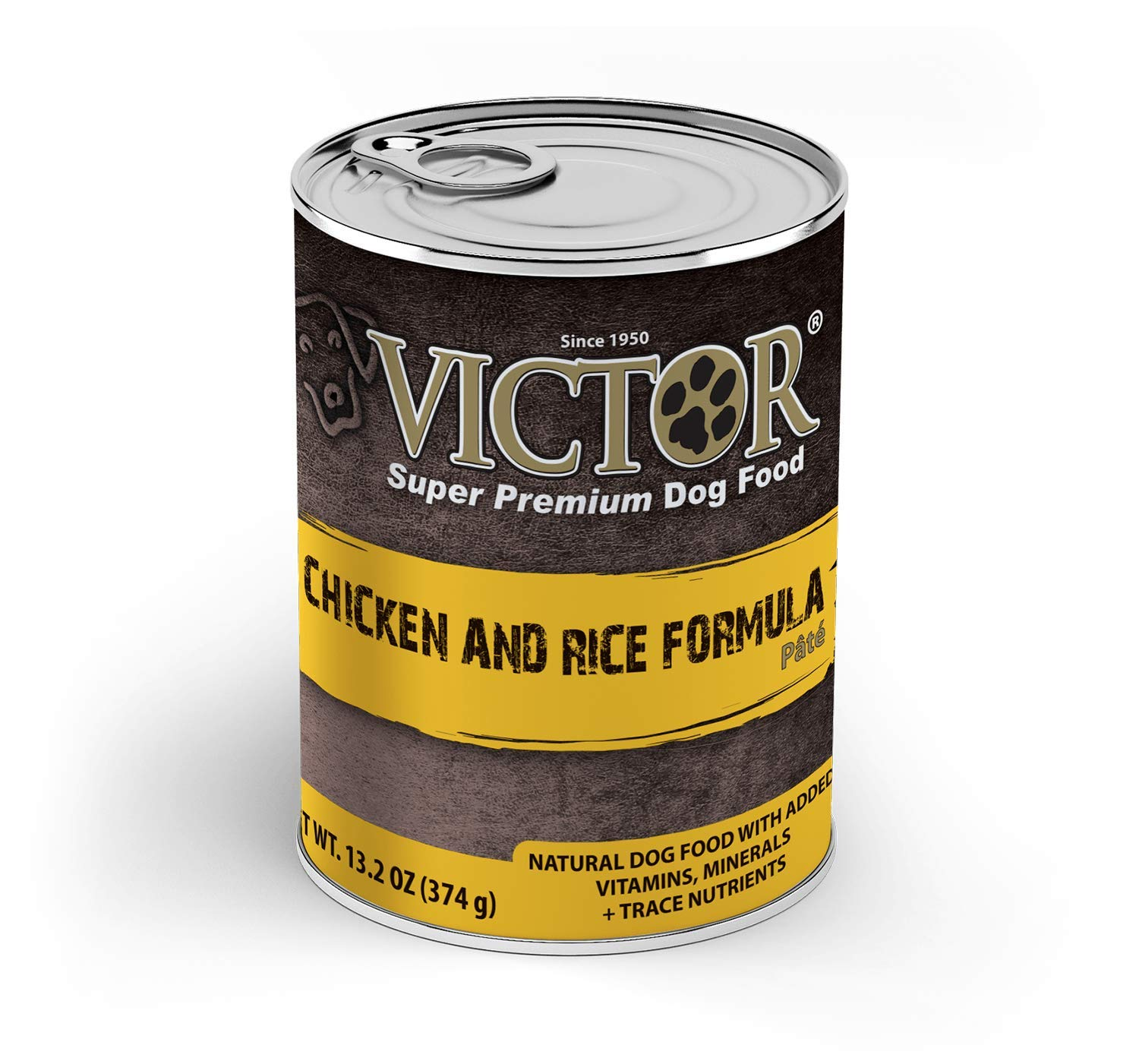 Victor Chicken Rice Formula Pate Dog Food – Canned, 12 13.2 Oz. Cans