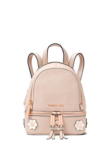 1ba7a503e468 MICHAEL Michael Kors Rhea Mini Floral Appliqué Leather Backpack in Soft Pink