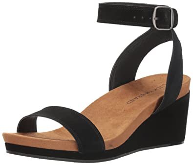 Lucky Brand Karston Ankle Strap Wedge Sandal (Women's) uXtIrs2X0